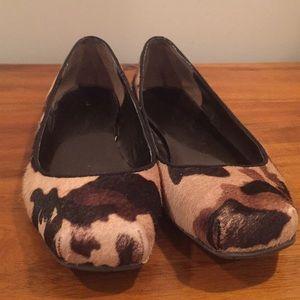 Jessica Simpson calfhair camo flats